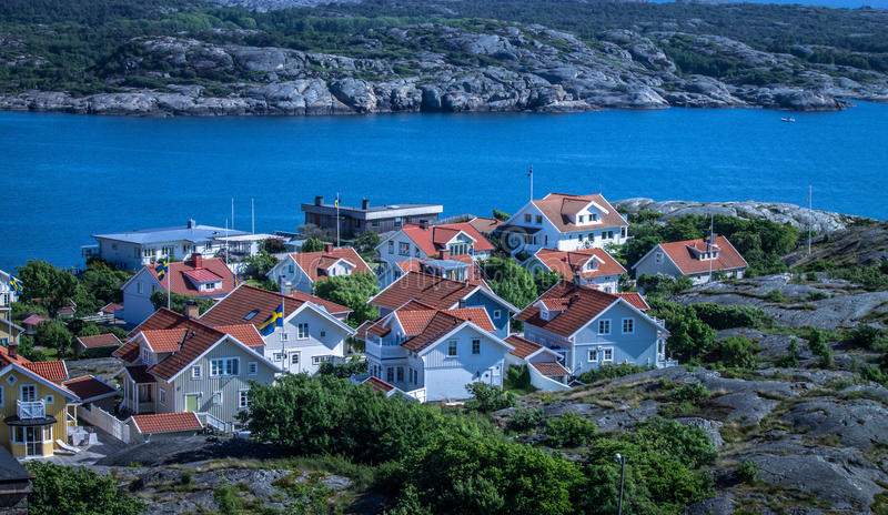 Marstrand town, Sweden royalty free stock photo