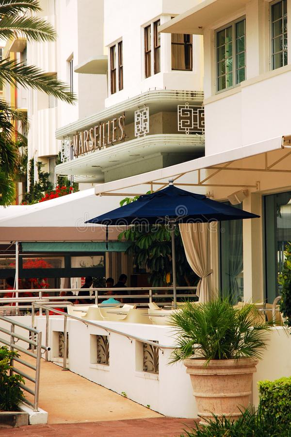Marsylski hotel w południe plaży fotografia royalty free