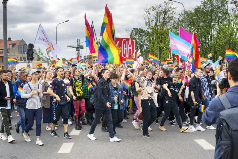 Marsz r?wno?? i tolerancja LGBT ludzie w Europa fotografia stock
