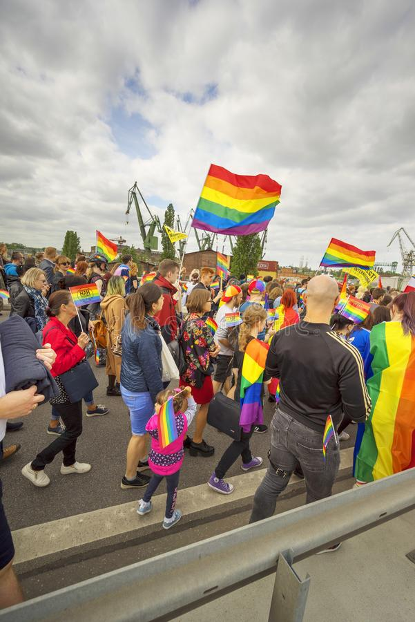 Marsz r?wno?? i tolerancja LGBT ludzie w Europa zdjęcie stock