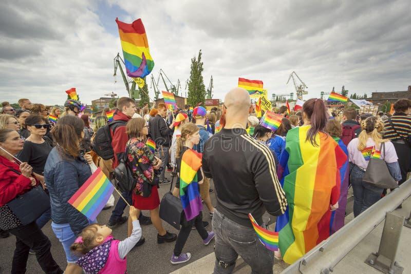 Marsz r?wno?? i tolerancja LGBT ludzie w Europa zdjęcia stock