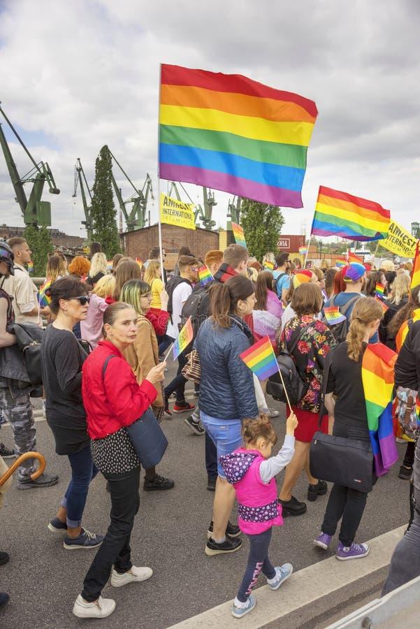 Marsz r?wno?? i tolerancja LGBT ludzie w Europa fotografia royalty free