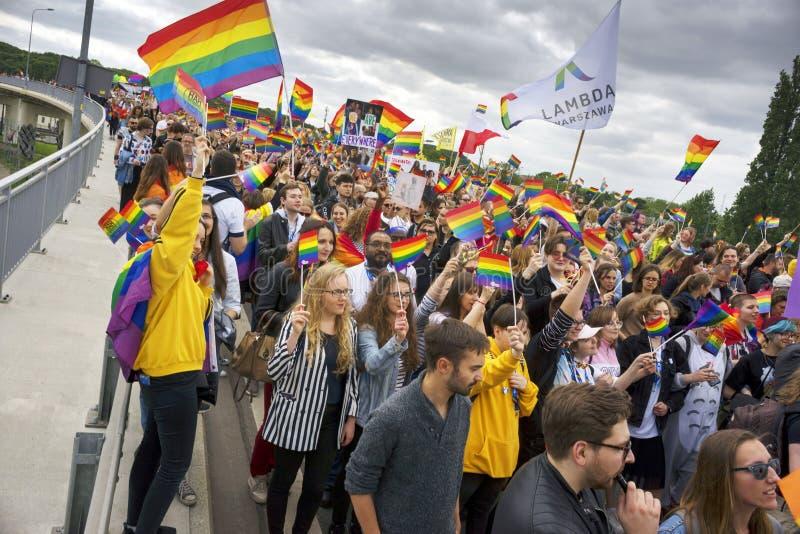Marsz r?wno?? i tolerancja LGBT ludzie w Europa obraz stock