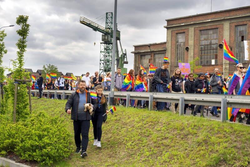 Marsz r?wno?? i tolerancja LGBT ludzie w Europa obrazy royalty free