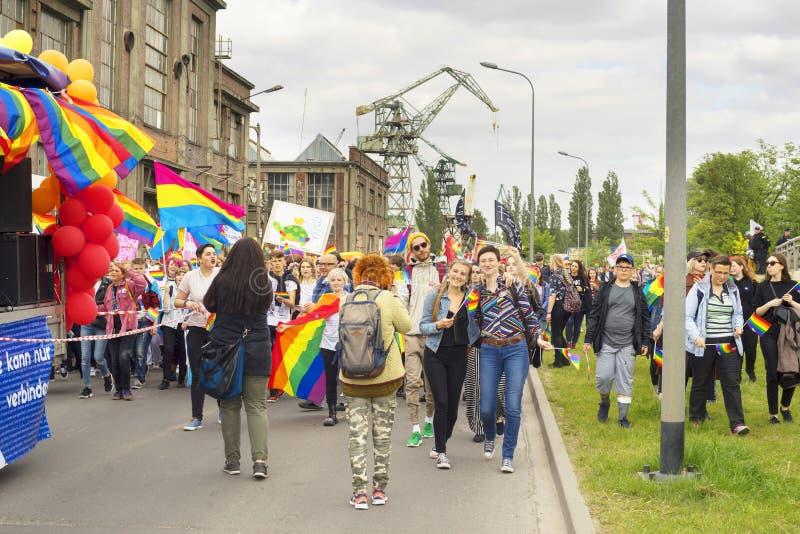 Marsz r?wno?? i tolerancja LGBT ludzie w Europa zdjęcia royalty free