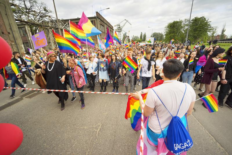 Marsz r?wno?? i tolerancja LGBT ludzie w Europa zdjęcie royalty free