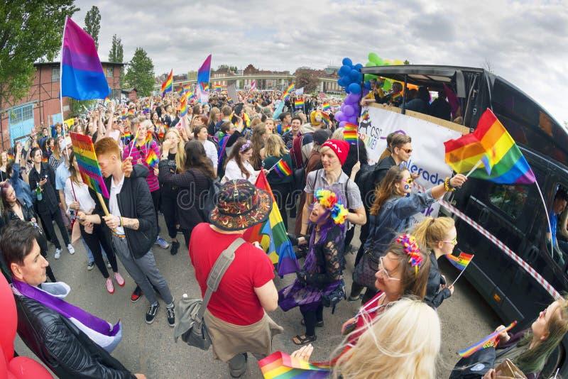 Marsz r?wno?? i tolerancja LGBT ludzie w Europa obraz royalty free