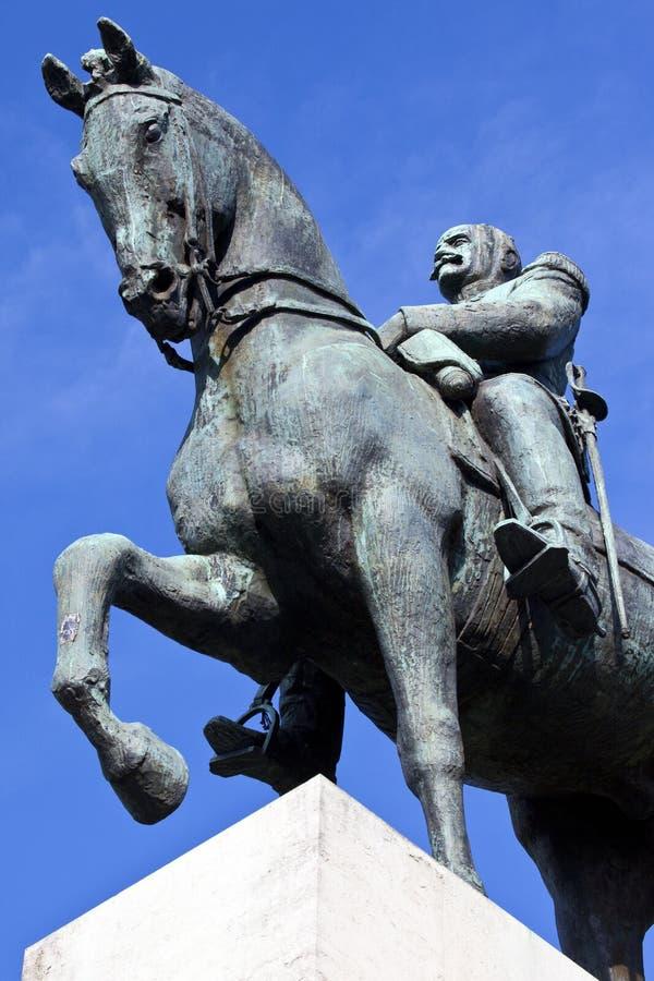 Marszałka Ferdinand Foch statua w Paryż obraz royalty free