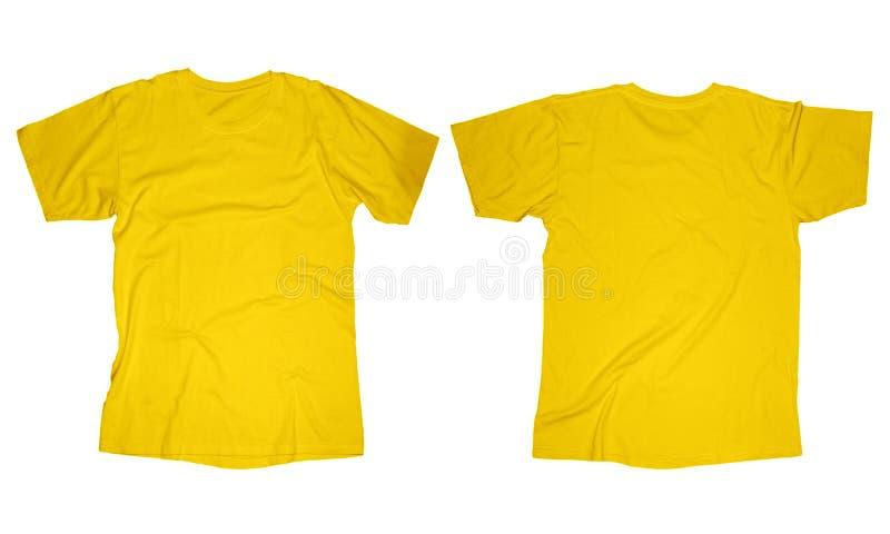 Marszczący Żółty Koszulowy szablon obrazy royalty free