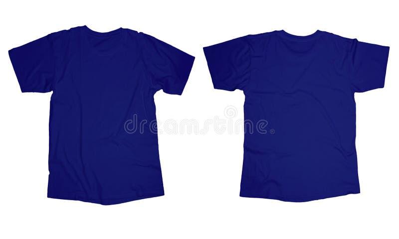Marszczący Błękitny Koszulowy szablon zdjęcie royalty free