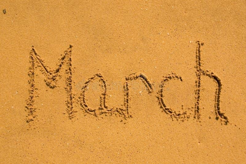 marszu piasek zdjęcie royalty free