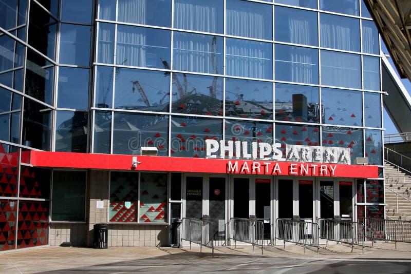 Marta Entry a Philips Arena em Atlanta Geórgia imagem de stock
