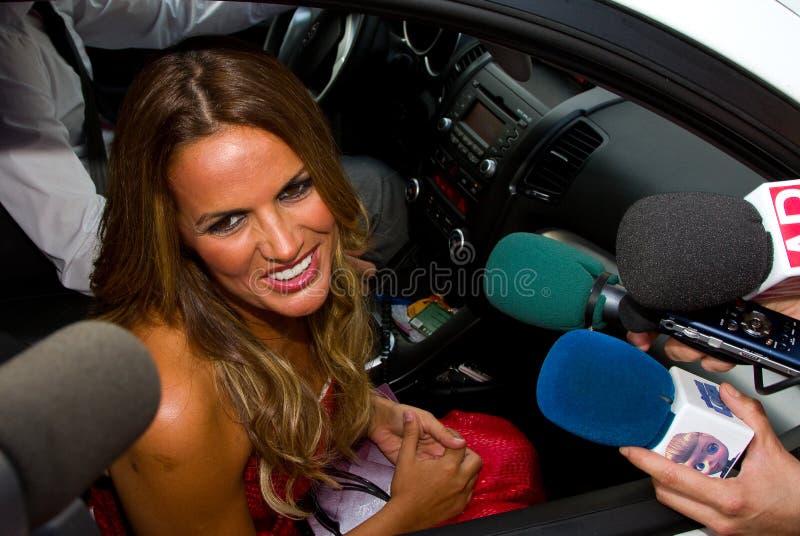 Marta López, celebridade espanhola imagem de stock royalty free