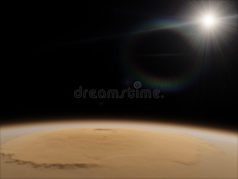 marte Concetto di scienza e di astronomia Tema dello spazio Elementi di questa immagine ammobiliati dalla NASA royalty illustrazione gratis