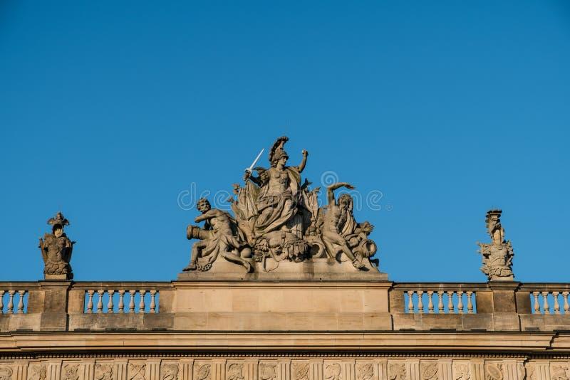 Marte, deus da guerra - escultura, Zeughaus, Berlim fotografia de stock