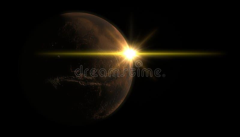 Marte e Sun fotografia stock libera da diritti