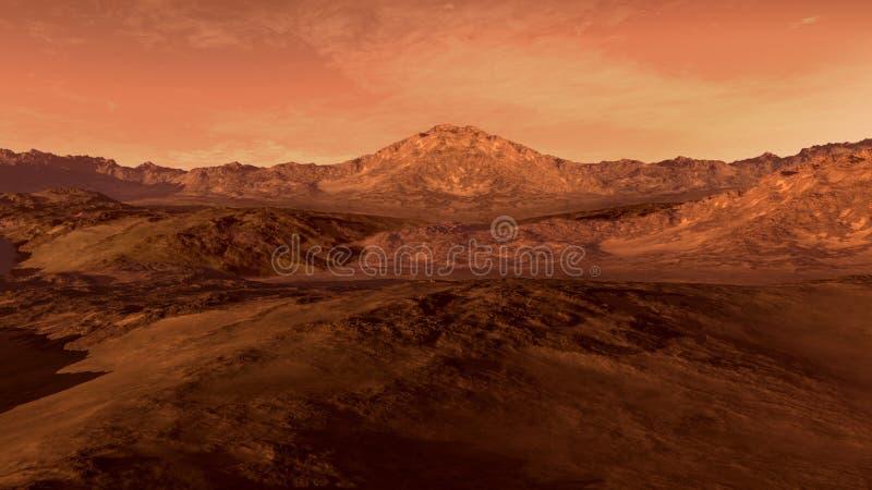 Marte le gusta el planeta rojo stock de ilustración