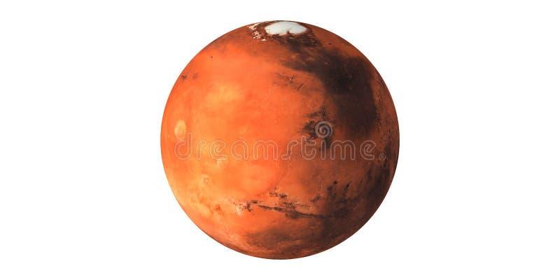 Marte o planeta vermelho visto do espaço imagens de stock royalty free