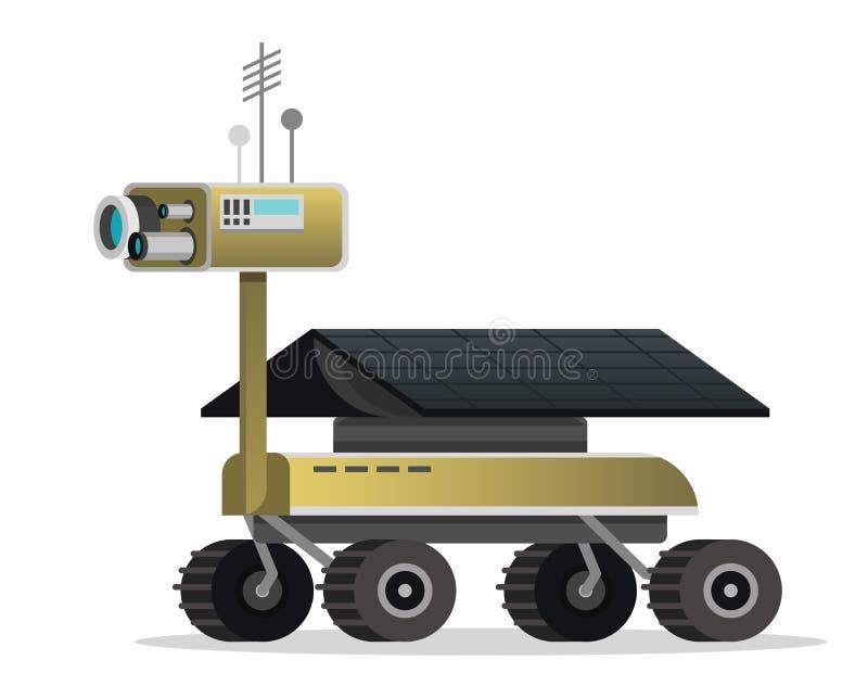 Marte Rover per i giochi ed il cellulare Tecnologia moderna del futuro Spazio d'esplorazione dell'astronauta Robot marziano sul r illustrazione di stock