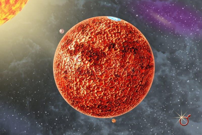 Marte - un planeta cuarto de la Sistema Solar fotos de archivo