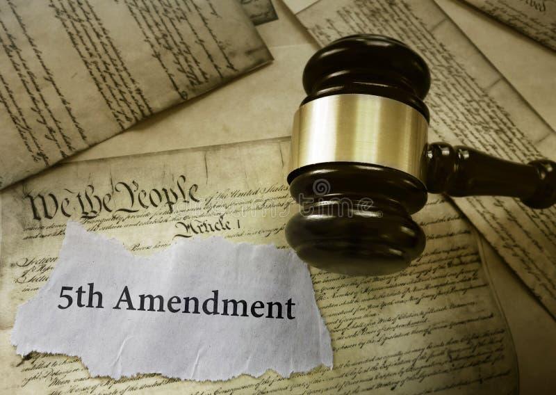 Marteau d'actualités d'amendement de Fifith images libres de droits