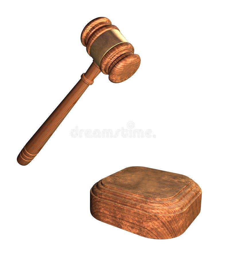 Marteau de juge illustration stock
