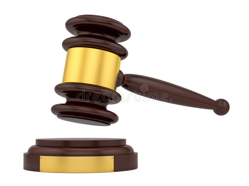 Marteau de juge illustration libre de droits