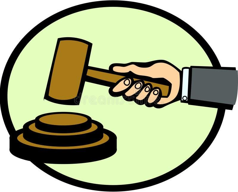 Marteau de juge ou d'enchère illustration stock