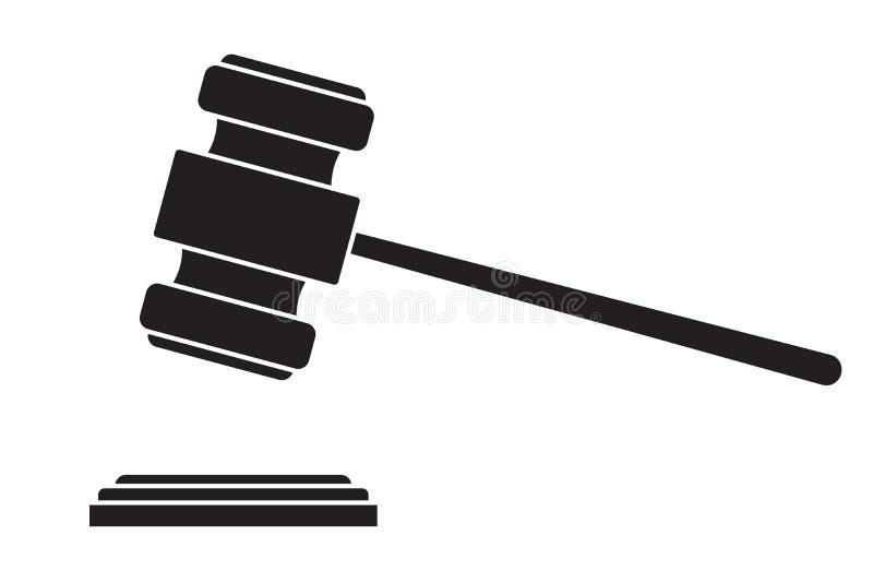 Marteau de juge ou marteau de vente aux enchères illustration de vecteur
