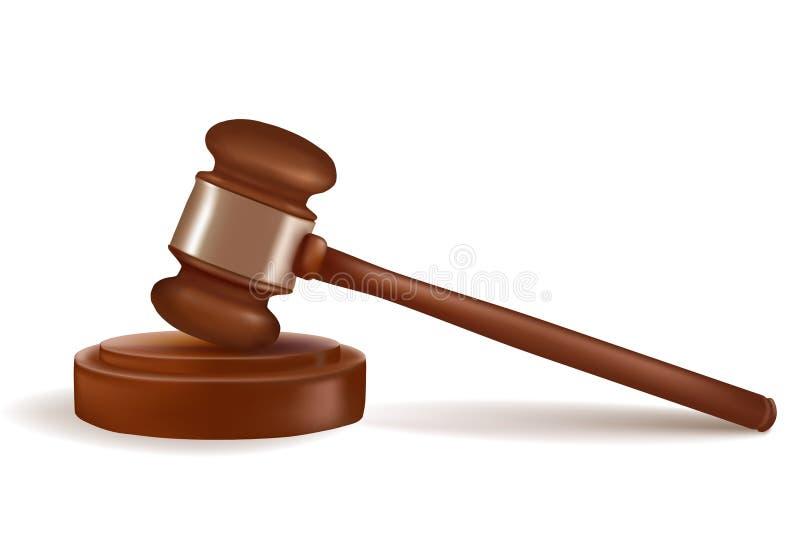 Marteau de juge. Vecteur. illustration stock