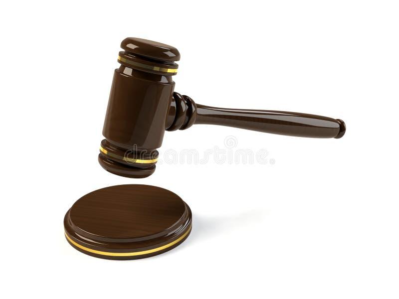 Marteau en bois illustration libre de droits