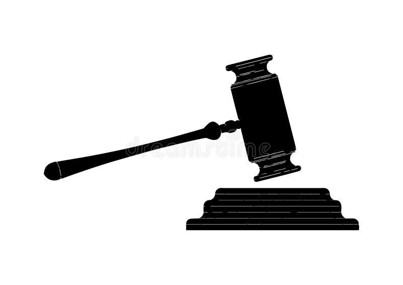 Marteau noir de juge illustration libre de droits