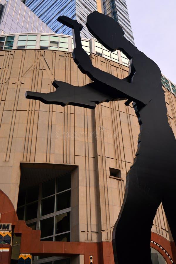 Martelando o homem Seattle imagens de stock royalty free