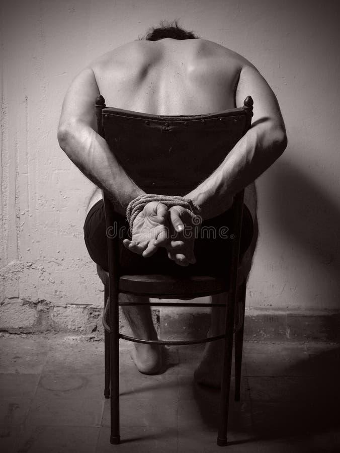 Martelingsmens met bandhanden. stock fotografie