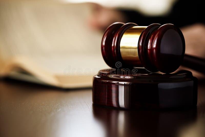 Martelletto dei giudici fotografia stock libera da diritti