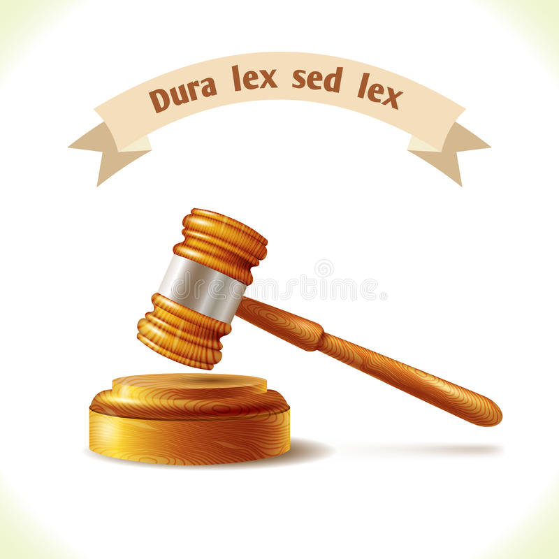 Martelletto del giudice dell'icona di legge royalty illustrazione gratis