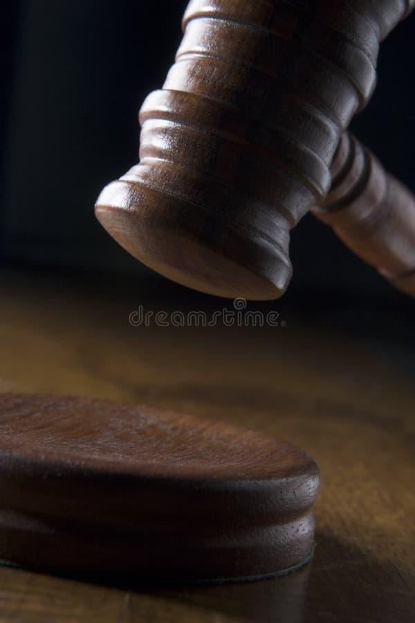 martelletto dell'aula giudiziaria fotografia stock