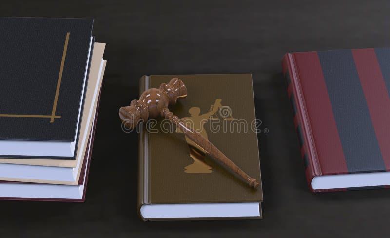 Martelletto su un libro di legge fotografia stock libera da diritti