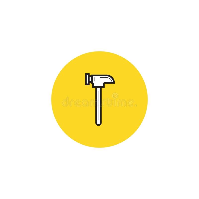 Martelli l'icona, stile piano di progettazione dell'illustrazione di riserva di vettore illustrazione vettoriale