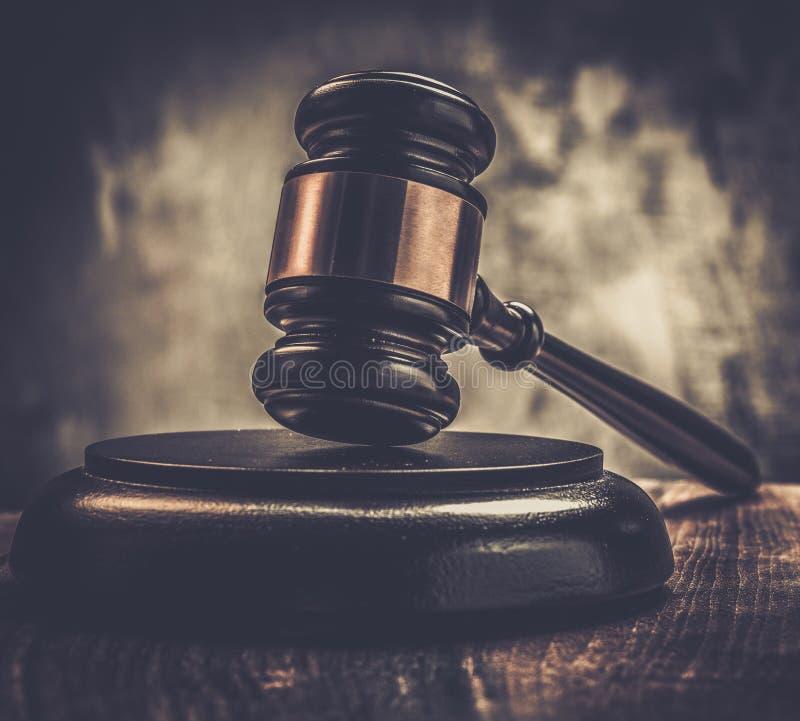 Martello del giudice fotografia stock libera da diritti