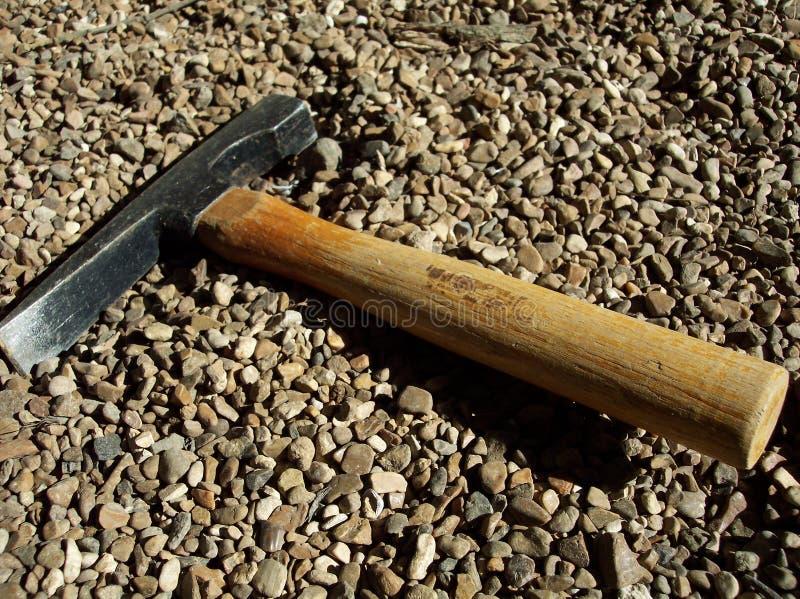 Martello dello scalpello di estrazione mineraria fotografie stock