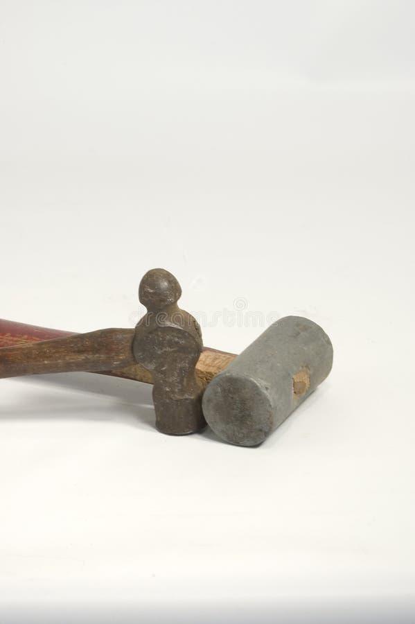 Martello e maglio della penna della palla fotografie stock