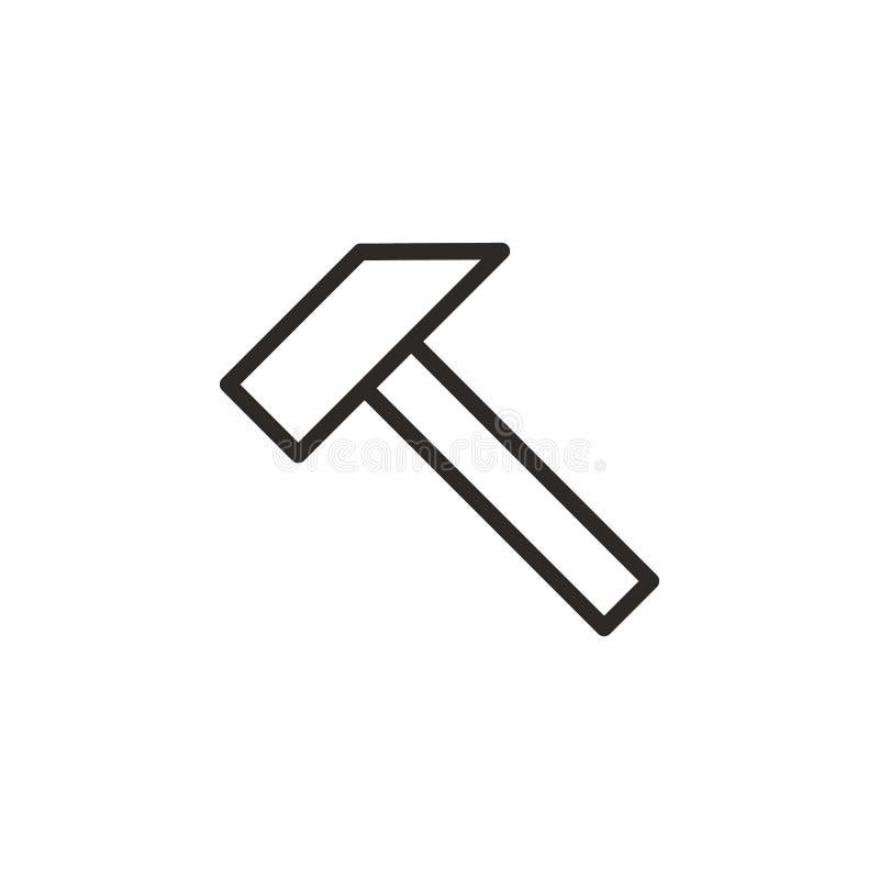Martello, falegnameria, icona di vettore dell'estrattore Elemento dello strumento di progettazione per il concetto ed il vettore  royalty illustrazione gratis