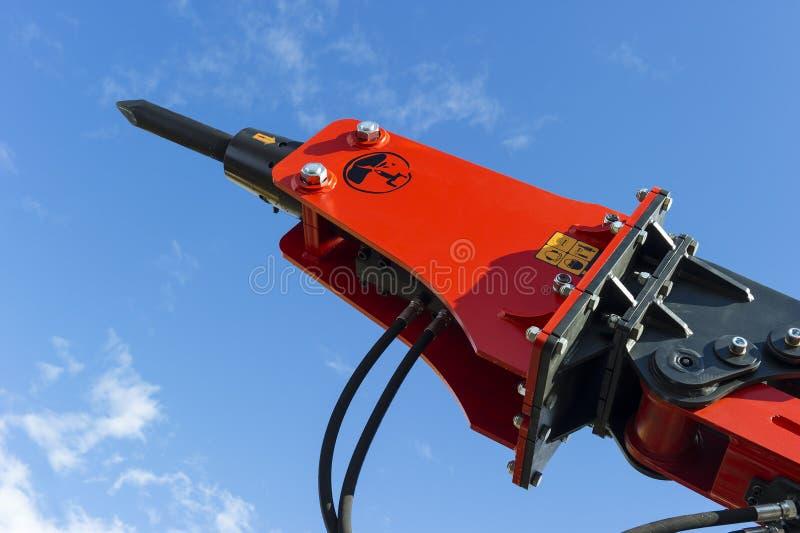 Martello pneumatico della macchina della costruzione fotografia stock