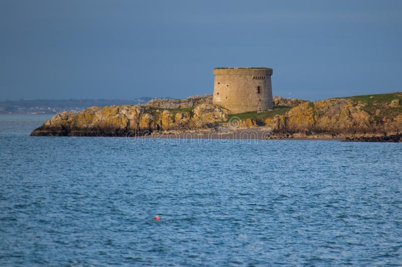 Martello round tower sea defence in Ireland royalty free stock image