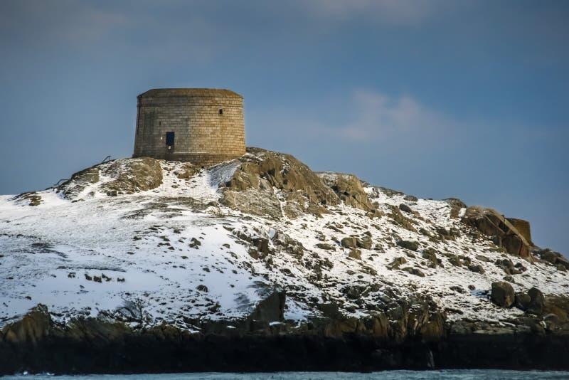 Martello står hög Dalkey ö dublin ireland royaltyfria foton