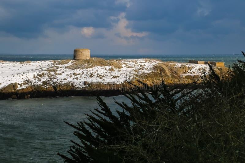 Martello står hög Dalkey ö dublin ireland arkivfoto