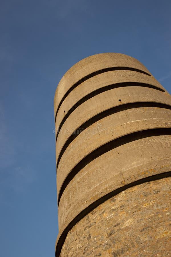 Martello wierza przy fortem Saumarez, u?ywa? Niemieckimi wojskami okupacyjnymi podczas wojny ?wiatowej 2 16th Lipiec - fort Sauma obraz royalty free