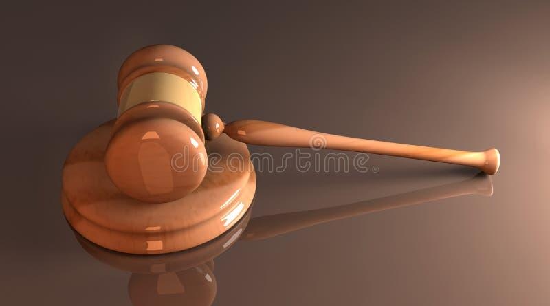 Martelo da corte ilustração do vetor