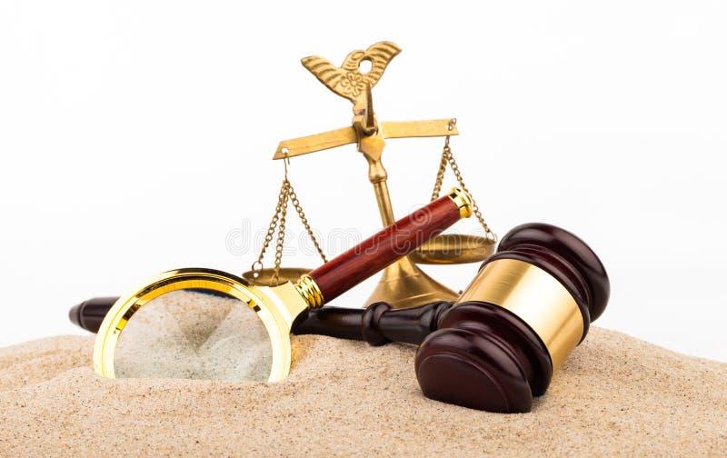 Martelo da lei imagem de stock royalty free